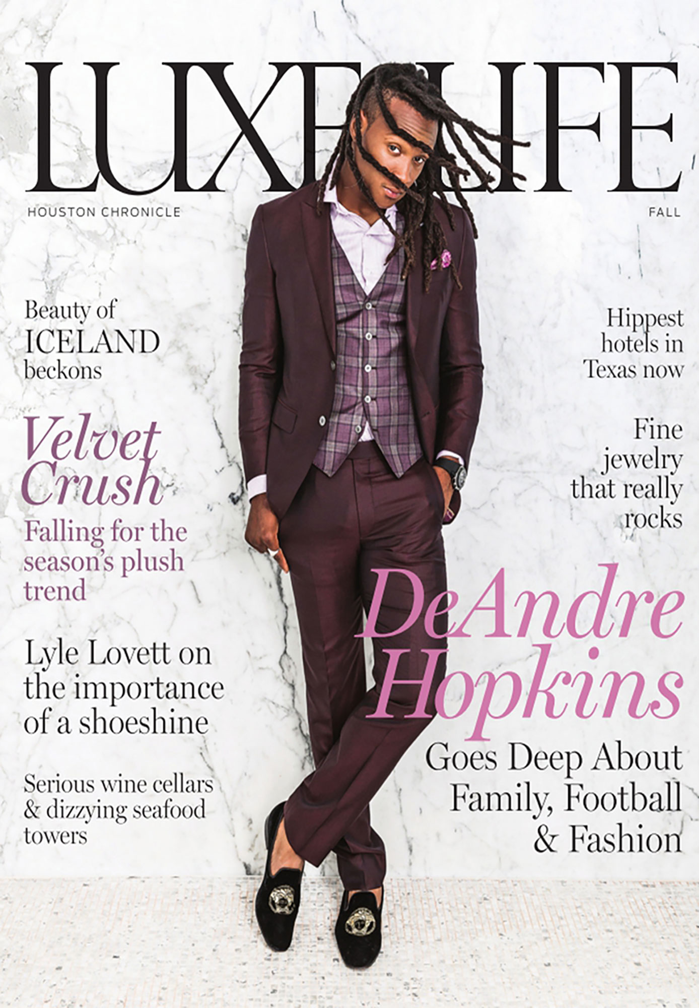 DeAndre Hopkins Luxe Life - Magazine Photography - Julie Soefer Photography