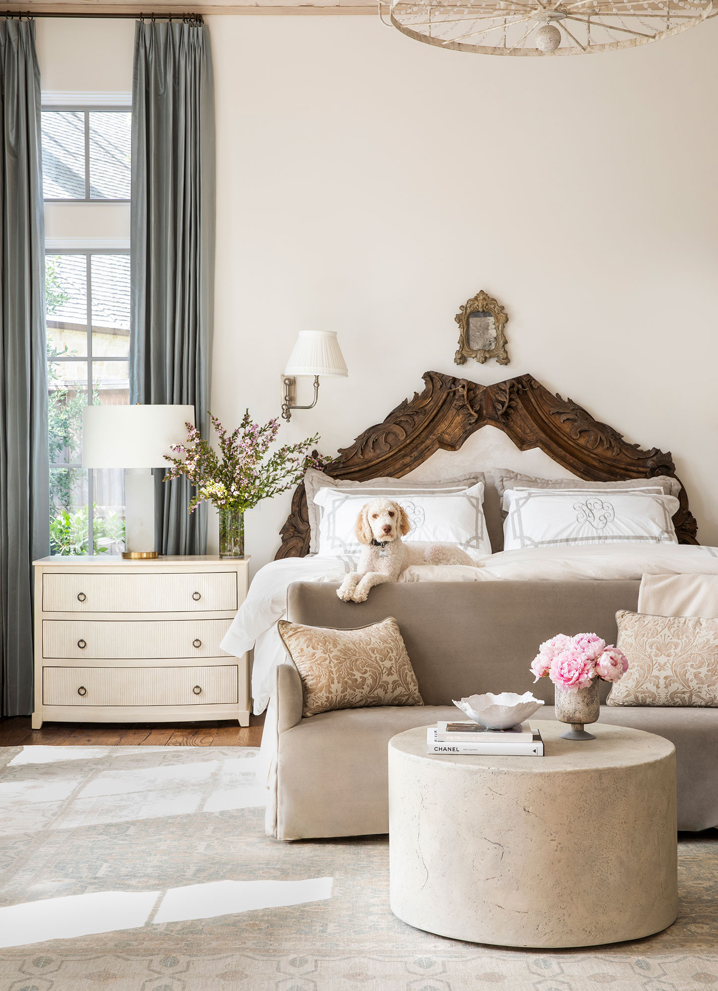 Bedroom with dog Interiors Photography - Julie Soefer Photography