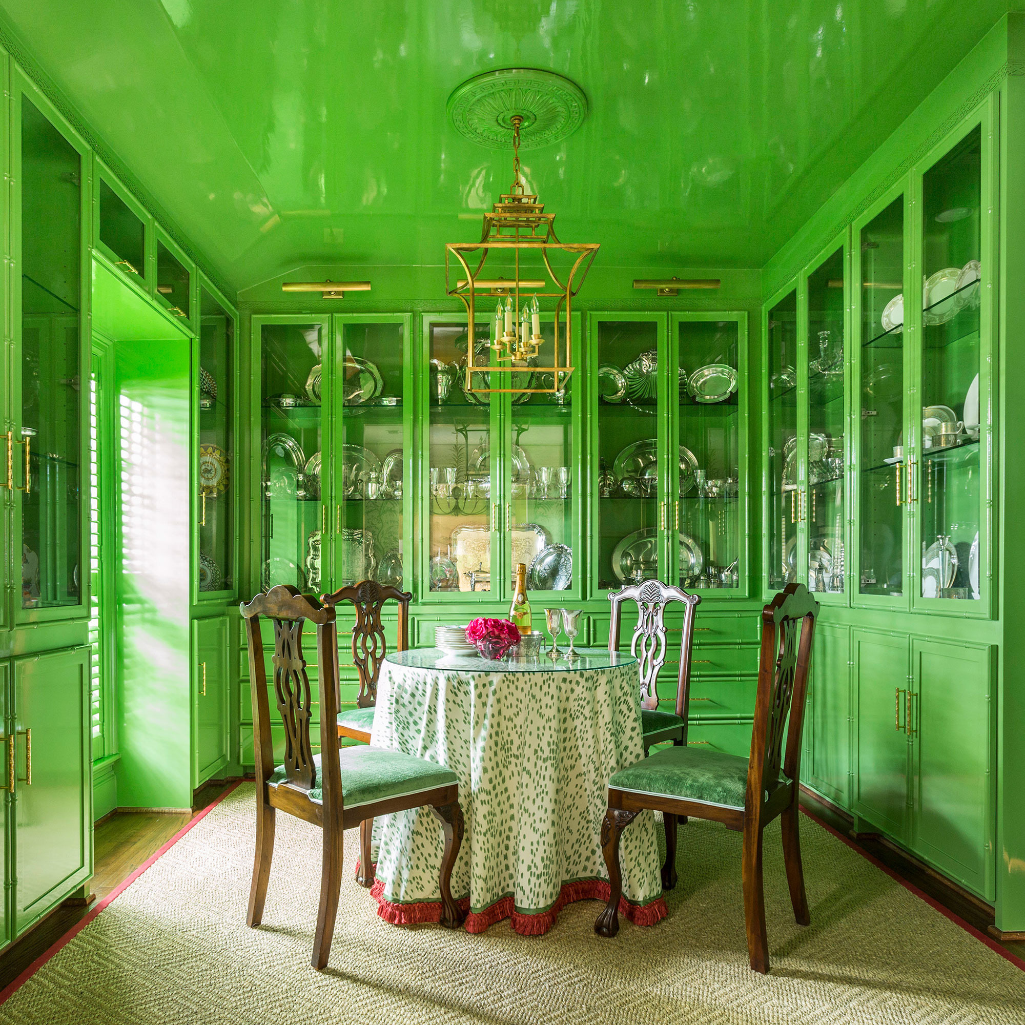 Dining Room Green Interiors Photography - Julie Soefer Photography