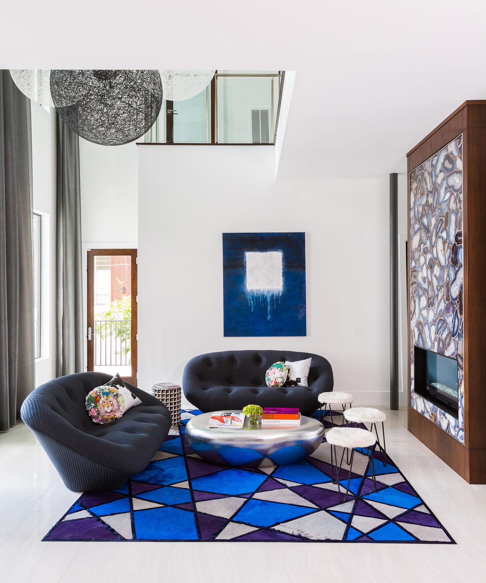 Livingroom Interiors Photography - Julie Soefer Photography
